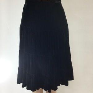 BCBGMaxAzria Black Velvet Skirt Size 6